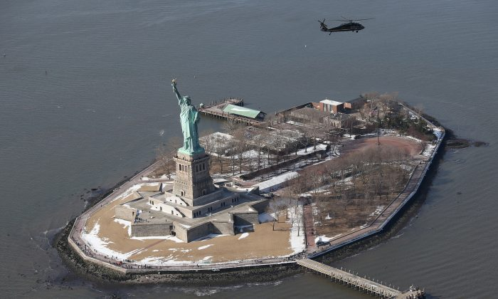 The Statue of Liberty in Liberty Island, New York City, on Jan. 28, 2014. (John Moore/Getty Images)