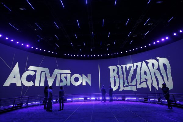 "The Activision Blizzard Booth during the Electronic Entertainment Expo in Los Angeles on June 13, 2013. The publisher of the successful ""Call of Duty,"" ""Skylanders,"" ""Guitar Hero,"" and ""Warcraft"" series announced plans Tuesday, Nov. 3, 3015, to add another popular franchise to its arsenal: ""Candy Crush."" (AP Photo/Jae C. Hong)"