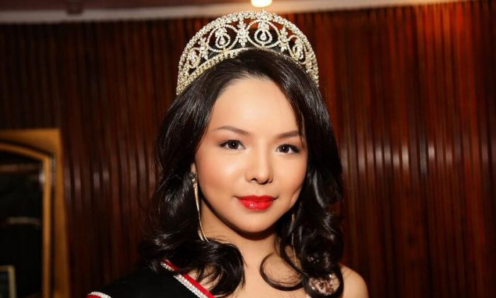 """Miss World Canada, Anastasia Lin at the international premiere of the documentary """"Hard to Believe,"""" in Vienna, Nov. 1, 2015.  (Courtesy of Anastasia Lin)"""