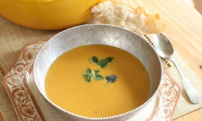 Indian Butternut Squash Carrot Soup (AP Photo/Matthew Mead)