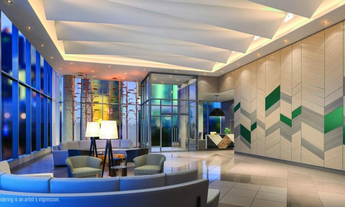 Rendering of the lobby at Fifth on the Park. (Courtesy of ELAD Canada)