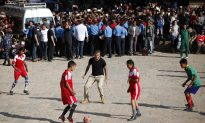 See David Beckham Play Soccer With Nepalese Children