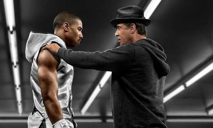 """Actors Michael B. Jordan and Sylvester Stallone in a poster of the movie """"Creed."""" (MGM)"""