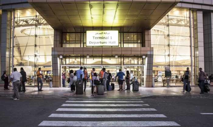 Tourists arrive to the departure hall of the Sharm el-Sheikh airport, Sinai, Egypt, on Nov. 7, 2015. (AP Photo/Vinciane Jacquet)