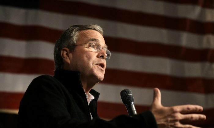 Republican presidential candidate and former Florida Gov. Jeb Bush speaks in Rye, N.H., on Nov. 3, 2015. Bush has a plan for the Republican presidential debate in Wisconsin on Tuesday night: Don't treat it like a debate. While he acknowledges he's got to be better on the debate stage, Bush says he's spending less time rehearsing this time. He sees the prime-time forum as more of a moderated conversation than a real debate. (AP Photo/Steven Senne)
