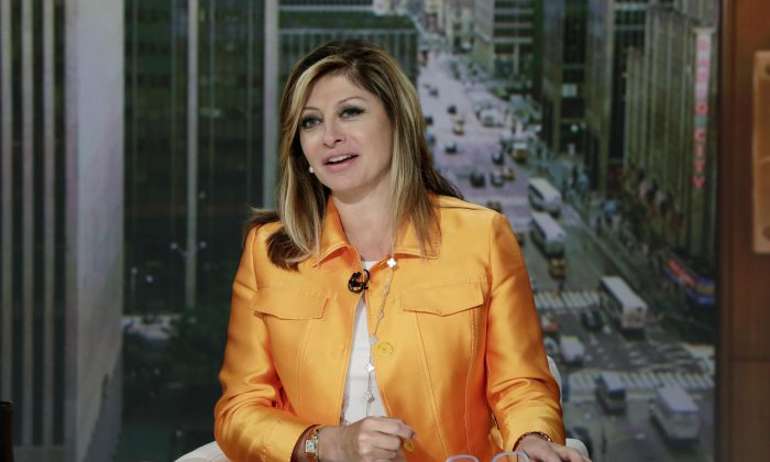 "Maria Bartiromo appears on her ""Mornings with Maria Bartiromo"" program, on the Fox Business Network, in New York, on June 23, 2015. (AP Photo/Richard Drew)"