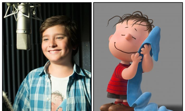 Alexander Garfin as the voice of Linus. (Jamie Midgley/Twentieth Century Fox & Peanuts Worldwide LLC - © 2015 Twentieth Century Fox Film Corporation)