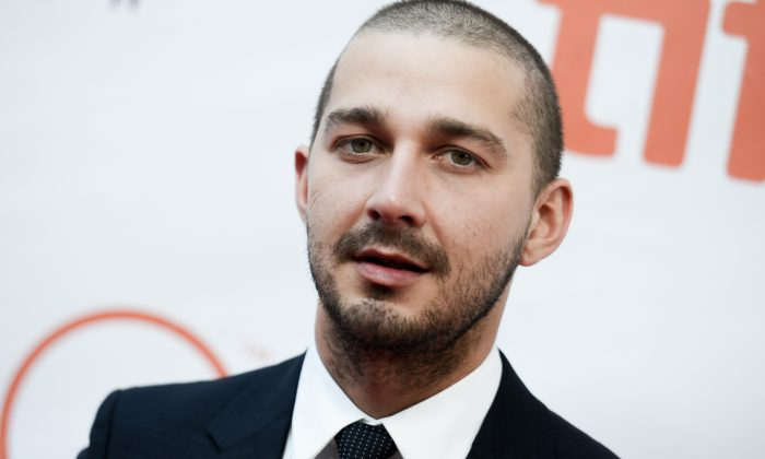 "FILE - In this Sept. 15, 2015 file photo, actor Shia LaBeouf attends a premiere for ""Man Down"" on day 6 of the Toronto International Film Festival at Roy Thomson Hall in Toronto. LaBeouf invited his fans to watch all the movies he's ever made with him during a three-day (and two-night) marathon at a Manhattan theater. LaBoeuf basically took over the theater but wasn't speaking to his fans, according to people coming out.  (Photo by Richard Shotwell/Invision/AP, File)"