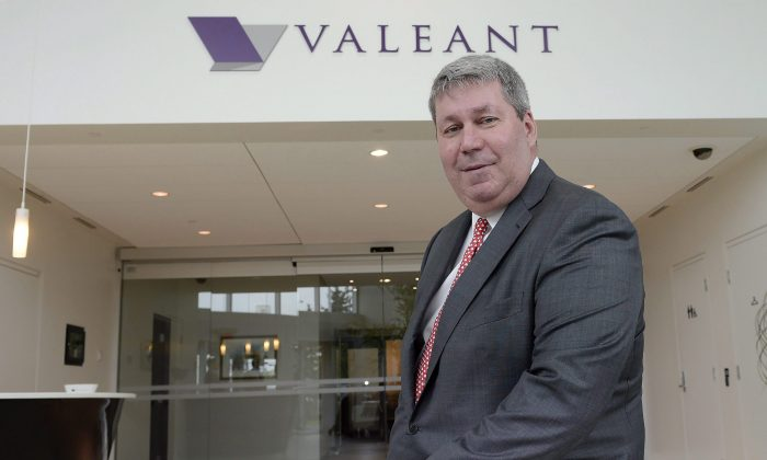 Valeant Pharmaceuticals CEO Michael Pearson at the company's annual general meeting in Montreal on May 19, 2015. (The Canadian Press/Ryan Remiorz)