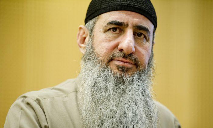 This is an Aug. 14, 2015  file photo  of Najmaddin Faraj Ahmad, known as Mullah Krekar, appearing in court in Oslo. (Olav Nesvold / NTB scanpix via AP)