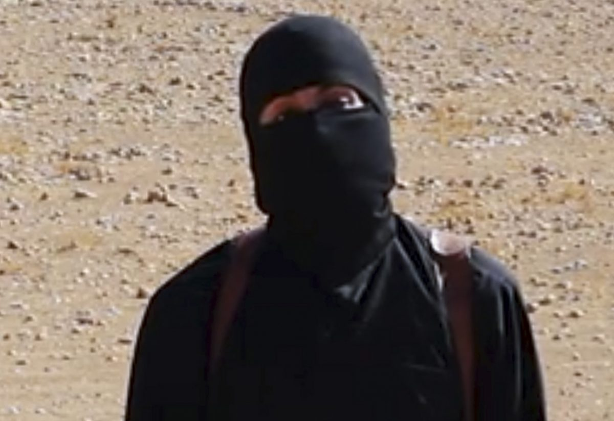 This still image from undated video released by Islamic State militants on Oct. 3, 2014, purports to show the militant known as Jihadi John. (AP Photo)