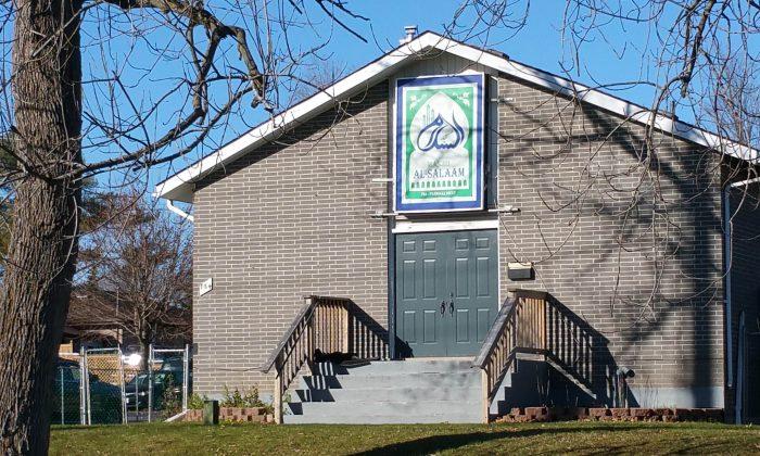 The Masjid Al-Salaam mosque in Peterborough, Ontario, Canada, on Nov. 16, 2015. (Tara MacIsaac/Epoch Times)