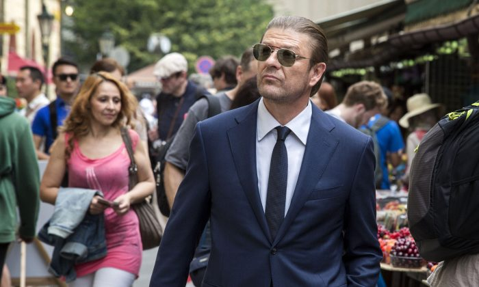 "This image released by TNT shows Sean Bean as Martin Odum in a scene from the ""The Legend of Curtis Ballard,"" episode of the TNT series, ""Legends."" The network said  Monday, Nov. 16, 2015, it will not air an episode of its drama ""Legends"" because it depicts a terrorist shooting into a crowd in Paris. TNT said it will instead air a rerun of ""Legends"" that was originally shown a few weeks ago.  (Larry D Horricks/TNT via AP)"