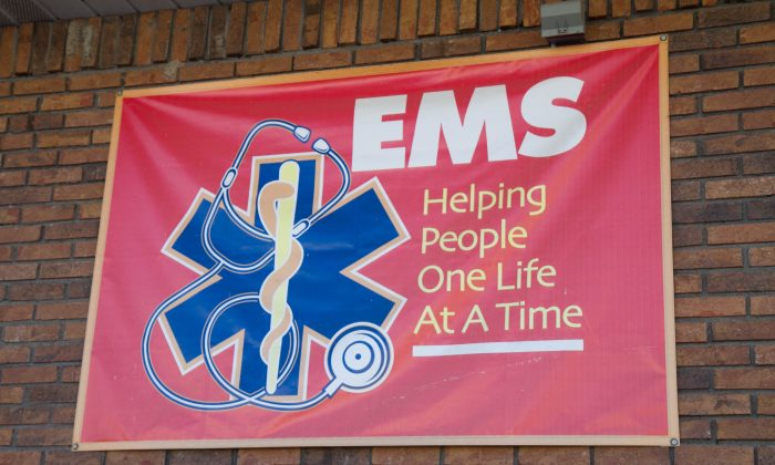 A sign outside the Port Jervis Volunteer Ambulance Corp. building in Port Jervis on Nov. 8, 2015. (Holly Kellum/Epoch Times)