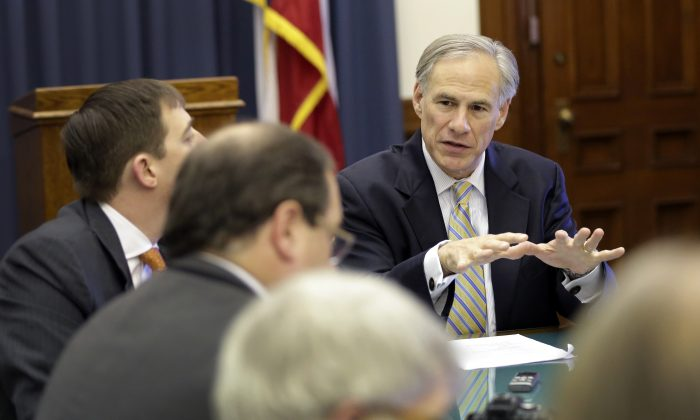 Texas Gov. Greg Abbott in a file photo. (AP Photo/Eric Gay)