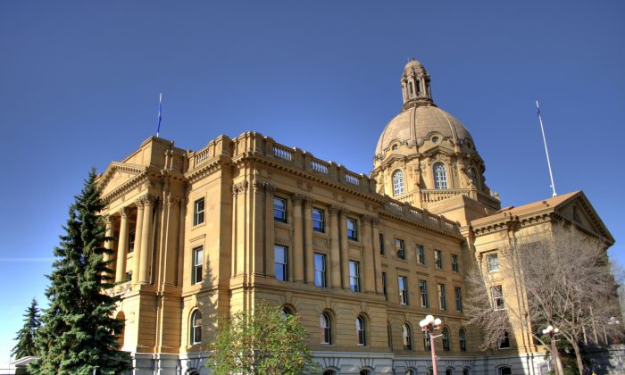 Legislative Assembly of Alberta building (WinterforceMediaWinterE229)