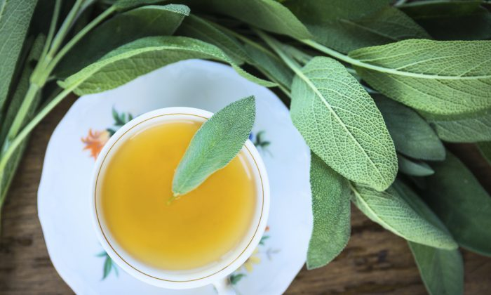 Sage tea is good for indigestion, sore throat, and many other health issues. (vicuschka/iStock).