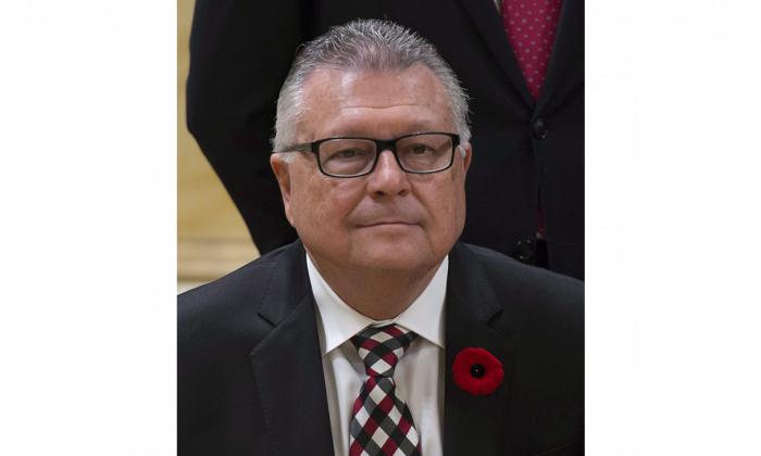 Minister of Public Safety and Emergency Preparedness Ralph Goodale in Ottawa after being sworn in on Nov. 4, 2015. (The Canadian Press/Justin Tang)