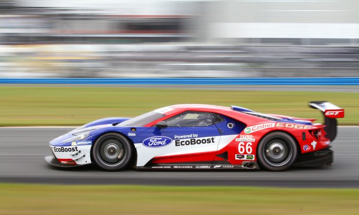 Chip Ganassi Racing brought a pair of Ford's new EcoBoost turbo-V6 GTs. They were very quick and sounded great. (Chris Jasurek/Epoch Times)