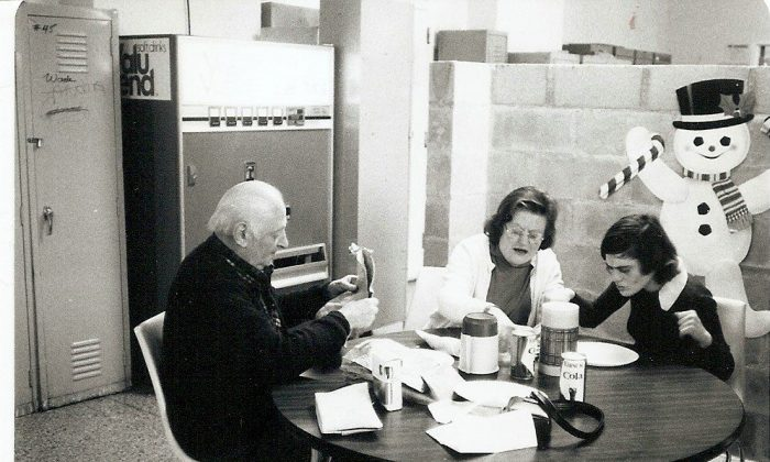 In this undated photo provided by Bill Liblick, David Liblick, left sits with Mollie Liblick, center, and Paula Liblick at Letchworth Village in Rockland County, New York. (Bill Liblick via AP)