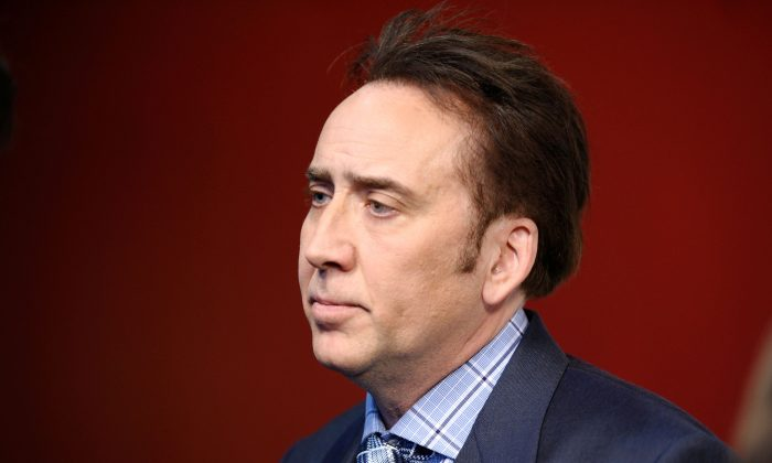 "Actor Nicolas Cage attends the ""Joe"" screening hosted by Lionsgate and Roadside Attractions with The Cinema Society at Landmark Sunshine Cinema on April 9, 2014, in New York City.  (Ilya S. Savenok/Getty Images)"