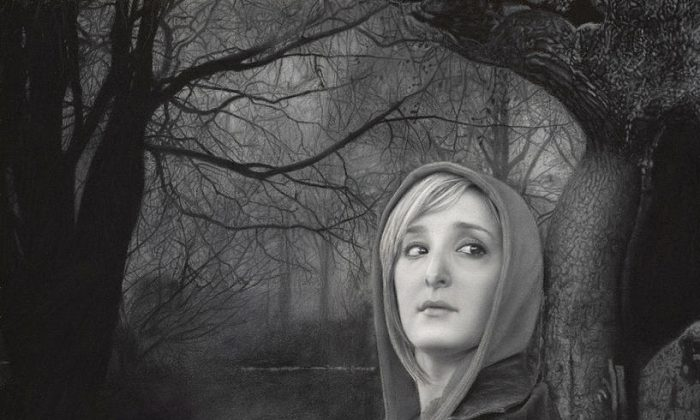 """""""The Forest of Solitude,"""" by Kevin Moore, 10 by 15 inches, charcoal on paper. (Courtesy of Kevin Moore)"""