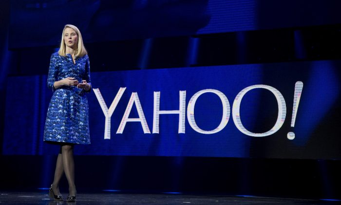 Yahoo President and CEO Marissa Mayer speaks during the International Consumer Electronics Show in Las Vegas on Jan. 7, 2014. Mayer's nearly four-year attempt to turn around Yahoo needs a turnaround itself, repeating a pattern of futility that has hobbled one of the Internet's best-known companies for the past decade. (AP Photo/Julie Jacobson)