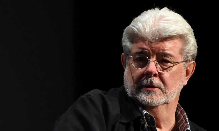 George Lucas speaks onstage at Tribeca Talks in New York City earlier in 2015. (Getty Images)