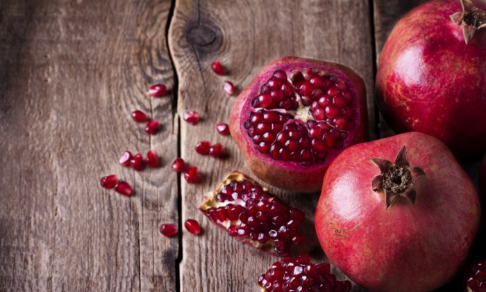 Pomegranates may take a little more work to eat, but the effort pays biochem- ical benefits. ((oxyzay/iStock)