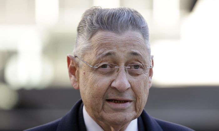 Ex-Speaker Sheldon Silver arrives to the courthouse in New York, Monday, Nov. 23, 2015. (AP Photo/Seth Wenig)