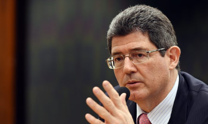Brazilian Finance Minister Joaquim Levy at a public hearing at the National Congress in Brasilia on Nov. 24, 2015. Levy keeps negotiating with pro-government and opposition parliamentarians for the approval of the fiscal adjustment proposed by the government. (Evaristo Sa/AFP/Getty Images)
