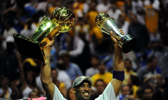 Kobe Bryant has won five titles in his 20-year tenure with the Los Angeles Lakers. (Ronald Martinez/Getty Images)