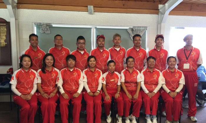 COME ON HONG KONG – the Hong Kong team that is participating in the 2015 Asia Pacific Championships in Christchurch, New Zealand, continue their search of the first medal since 2009. (Hong Kong Lawn Bowls Association)