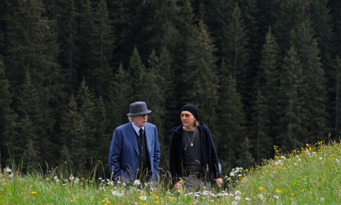 "This photo provided by Fox Searchlight shows Michael Caine (L) as Fred Ballinger, and Harvey Keitel as Mick Boyle, in ""Youth.""   (Gianni Fiorito/Fox Searchlight via AP)"