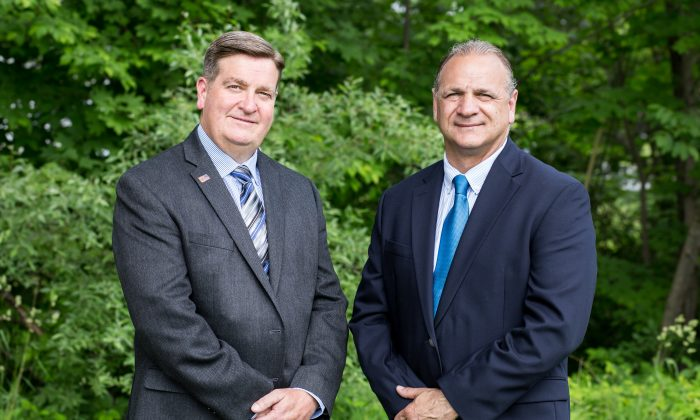 (L-R) Mike McGuin and Tony Cardone, newly elected members of the Monroe Town Board. (Courtesy of Deb Wilson Photography)
