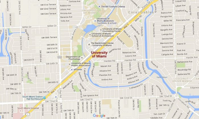 Shooting Threats at University of Miami, Florida ... on bucknell google maps, texas google maps, new mexico google maps, columbia google maps, xavier google maps, utah google maps, north carolina google maps, wyoming google maps, utsa google maps, clemson google maps, florida google maps, delaware google maps, mississippi google maps, south carolina google maps, duke google maps, smu google maps, iowa google maps, villanova google maps, albany google maps, troy google maps,