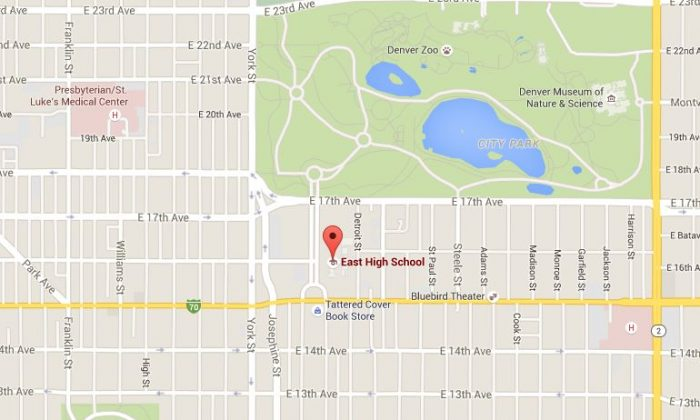 East High School was placed on lockdown on Thursday afternoon, according to reports. (Google Maps)