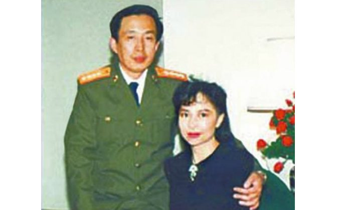 Luo Yu (L), son of former revolutionary Chinese general Luo Ruiqing, and his late wife (R), former Hong Kong actress and businesswoman Tina Leung, in an undated photo. (Screen shot/NTDTV)