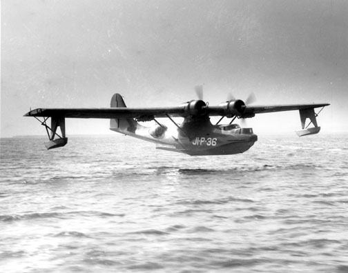A PBY-5 making a landing in a file photo. (USN)