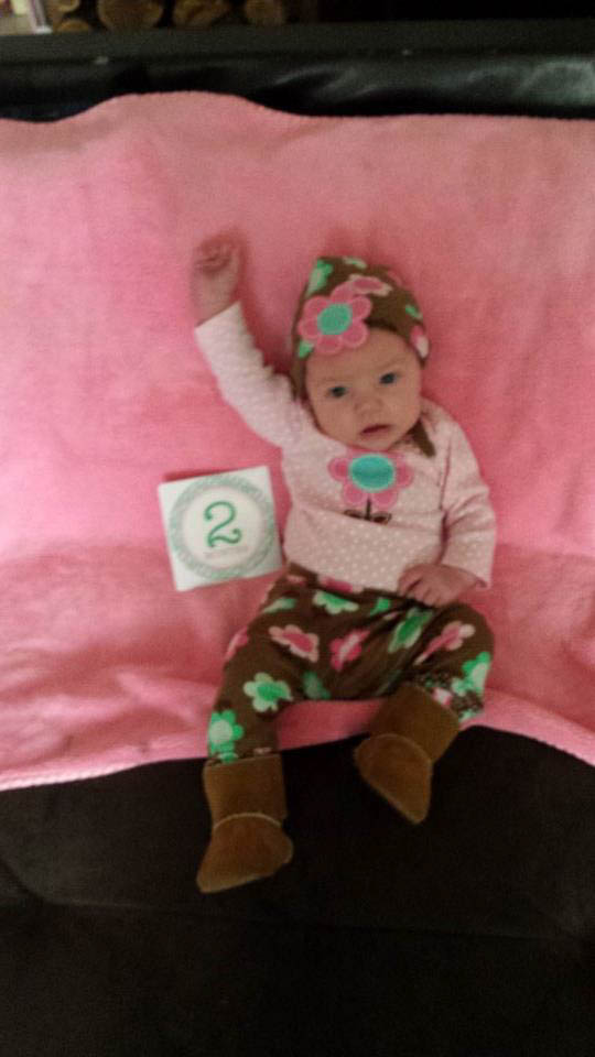 Two-month-old girl in Port Jervis on Nov. 4, 2015. (Fawn Koch)