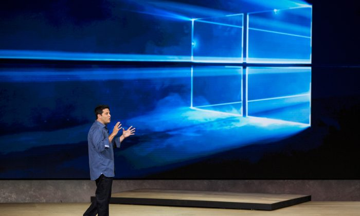 Terry Myerson, executive vice president of operating systems at Microsoft, speaks at a media event for new Microsoft products on October 6, 2015 in New York City. (Andrew Burton/Getty Images)