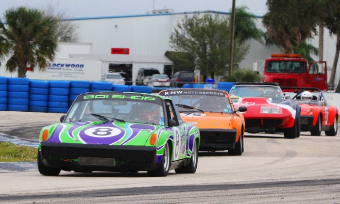 Sebring seemed to enter a time warp over the weekend as cars from four decades ago banged wheels at the HSR season finalé. (Chris Jasurek/Epoch Times)