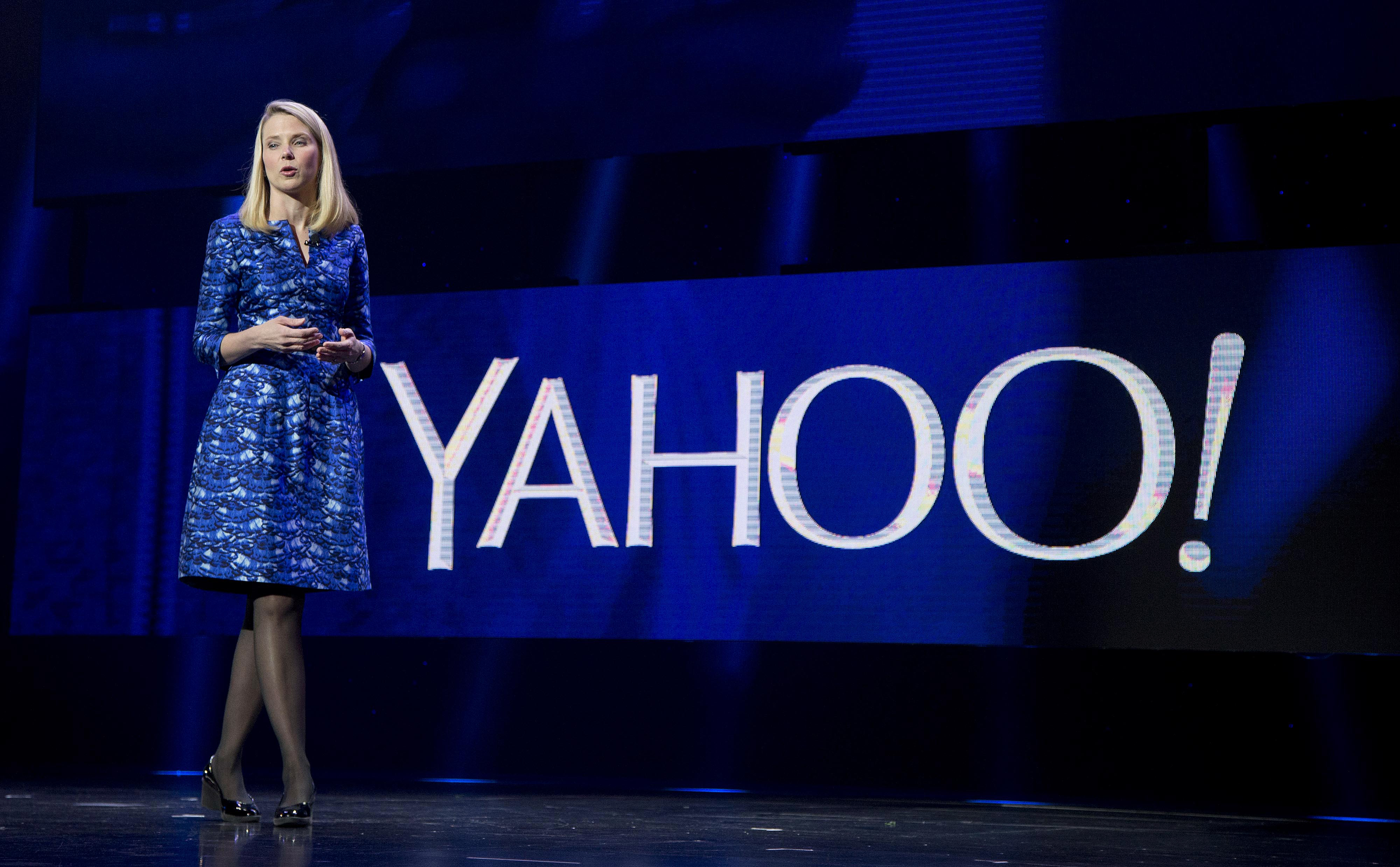 Yahoo President and CEO Marissa Mayer at the International Consumer Electronics Show in Las Vegas on Jan. 7, 2014. (AP Photo/Julie Jacobson)
