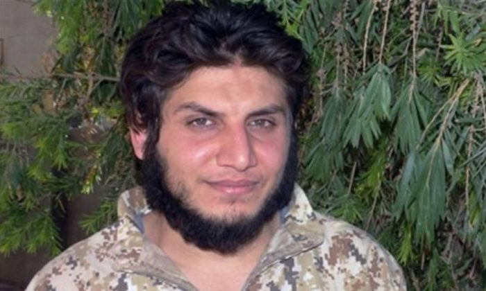 This image posted online on Sunday, Oct. 4, 2015, by supporters of the Islamic State militant group, purports to show Mohammed Dalaeen, a son of Jordanian parliament member Mazen Dalaeen. The photo has been verified and is consistent with other AP reporting. (Militant photo via AP)