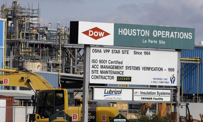 A Dow Chemical plant in La Porte, Texas, on Dec. 10, 2015. (AP Photo/Pat Sullivan)
