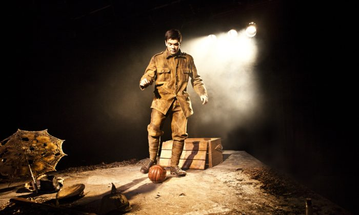 Alex Gwyther as Private James Boyce in a play about the famous World War I truce at Christmas 1914.  (Pamela Raith)