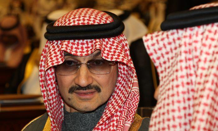 """Saudi billionaire Prince Alwaleed bin Talal al-Saud attends the speech of  King Abdullah bin Abdul Aziz al-Saud of Saudi Arabia, at the Saudi Shura """"consultative"""" council in Riyadh, Saudi Arabia, Sunday, March 7, 2010. (AP Photo/Hassan Ammar)"""