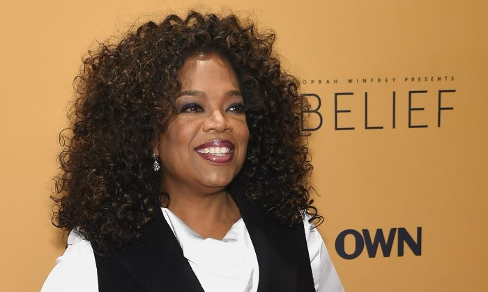 "Oprah Winfrey at the ""'Belief"" New York premiere on Oct. 14, 2015. (Jamie McCarthy/Getty Images)"