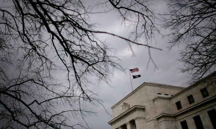 The Federal Reserve building in Washington, D.C., on Jan. 22, 2008. (Chip Somodevilla/Getty Images)