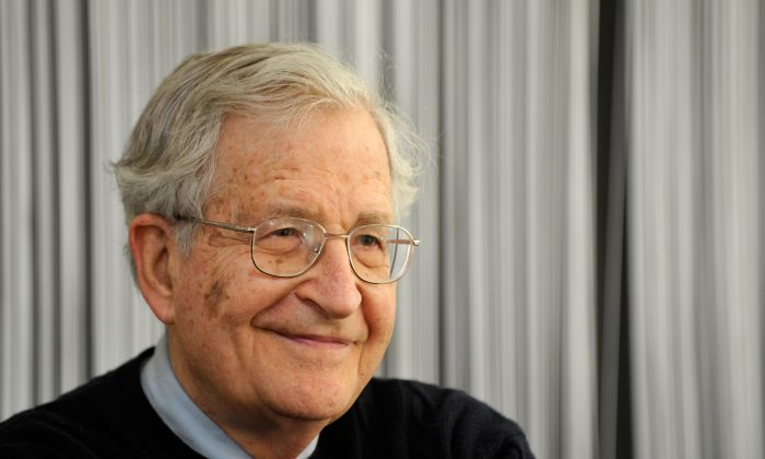 U.S. linguist, philosopher, and political activist Noam Chomsky at a press conference in the southern German city of Stuttgart on March 23, 2010. (Sascha Schuermann/AFP/Getty Images)